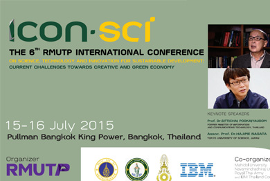 ICON SCi : The 6th RMUTP International Conference